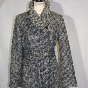 Cole Haan Tweed Wool Blend Coat